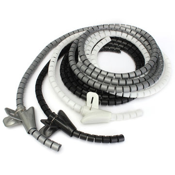2m Cable Tidy Wire Organising Tool Kit Spiral Wrap Home Office Workshop Garage