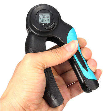 LCD Digital Hand Gripper Wrist Exercise Gym Fitness Grip Calorie Timer Counter