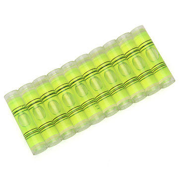 10pcs 9x40mm Cylindrical Bubble Spirit Level Set For Professional Measuring And Normal Use