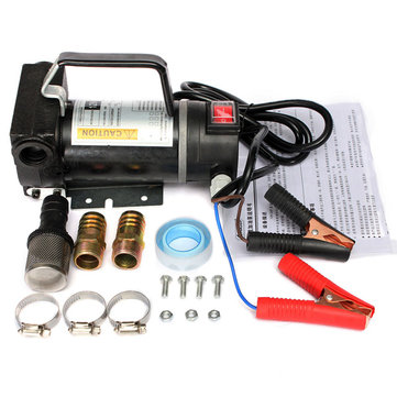 12V Portable Fuel Diesel Pump Oil Transfer Pump Self Priming 45L/Min 200W Black
