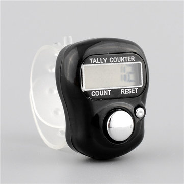 5 Digit Digital Adjustable Electronic Tally Ring Counter For Golf Multicolor Sports Dock