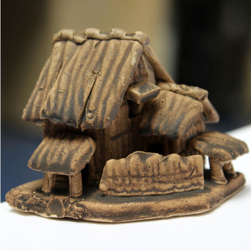 Aquarium Fish Tank Decoration Thatched Cottage Ornament