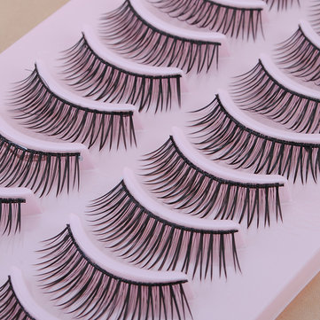 10 Pair Natural False Eyelashes Eye Lash Makeup 043