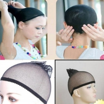 Black Hair Wig Weaving Cap Net Mesh Fish Net