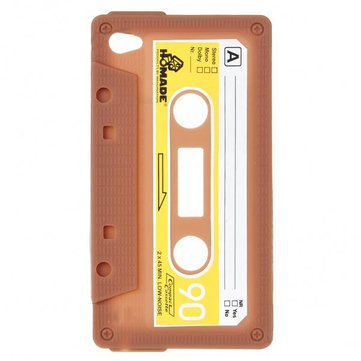 Unique Retro Cassette Tape Silicon Case For iPod Touch 4 Coffee