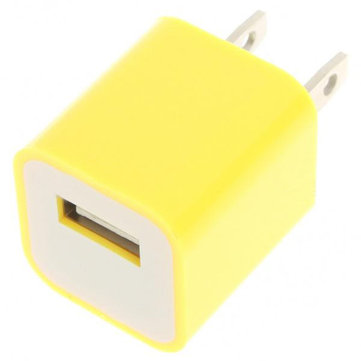 USB Power Adapter/Charger for iPod Series/iPhone/3G/4 - Yellow