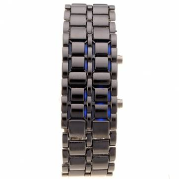 Iron Samurai Stainless Steel LED Digital Lava Mens Boys Wrist Watch