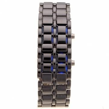 Iron Samurai Stainless Steel LED Digital Lava Mens Boys Wrist Watch