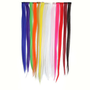 13 Popular Color Straight Hair Extension Piece With Clip