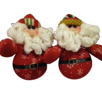 Red Cute Santa Father Christmas With Girdle Xmas Gift Decoration