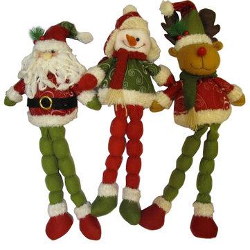 뜨거운 데 긴 다리 크리스마스 사슴 산타 눈사람 크리스마스 선물 장식