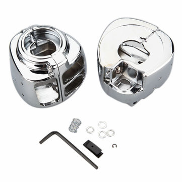 Handlebar Switch Housing Replacement Kit for Harley Davidson Softail