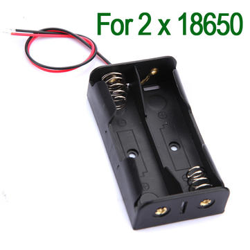 Plastic Battery Storage Case Box Holder For 2x18650 With Leads