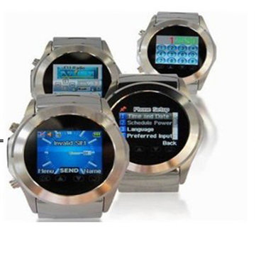 Wrist Watch Mobile Cell Phone S320 Silver Unlocked Stainless Steel Metal Touch Screen FM Camera Mp3 4