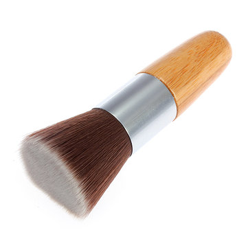 Fibre Flat Top Wooden Handle Makeup Face Powder Brush Tool