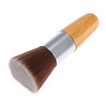 Fibre Flat Top Wooden Handle Makeup Face Powder Brush Tool