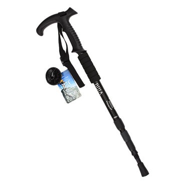IPRee™ Outdoor Adjustable Trekking Pole 4 Sections Walking Stick Crutch Camping Climbing Alpenstock Cane