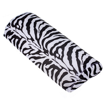 Zebra-stripe Hand Cushion Pillow Nail Art Manicure Care Half Column