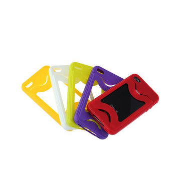 Soft Gel Slider Card Case Cover Skin For iPhone 4 4s