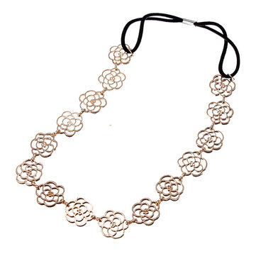 Lovely Exquisite Hollow Out Rose Flower Hair Band Headbrand Headhoop