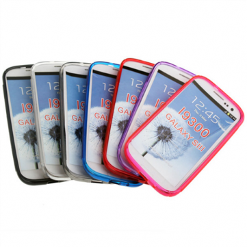 Plastic Plain Gel TPU Case For Samsung Galaxy SIII I9300