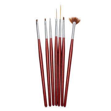 7pcs Acrylic Nail Art Tool Pen Painting Brush Set Gel Decorations