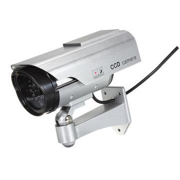 Solar Power Fake CCTV Security Surveillance Outdoor Flash LED Camera