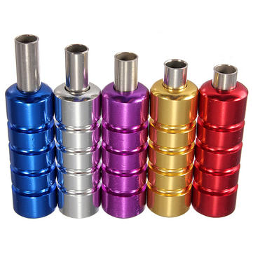5 Colors Aluminum Tattoo Machine Gun Grip Tube Kit with Backstem