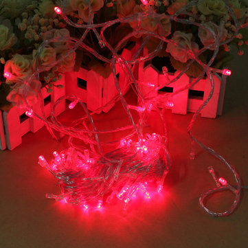 100 LED 10m Red String Decoration Light 110V 220V