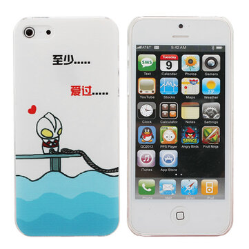 Cute Cartoon Ultraman Pattern Hard Case Cover For iPhone 5 5G