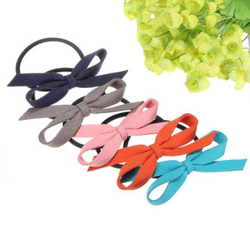 Girls Beautiful Unique Leather Cortex Bow-knot Hair Band