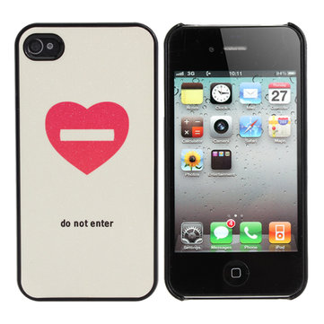 Special Design Love Heart Frosted Case For iPhone 4 4S