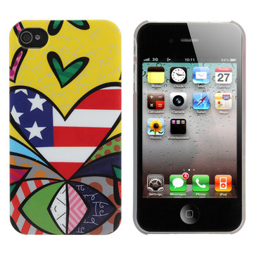 Novelty Strange Colorful Painting Love America Case For iPhone 4 4S