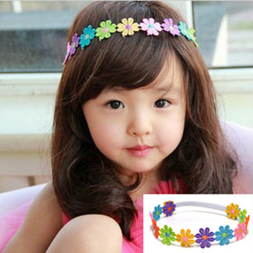 Colorful Sunflower Lace Headdress Baby Hair Band