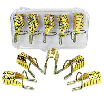 10pcs Gold UV Gel เจลอะคริลิคต่อเล็บเคล็ดลับการขยาย เครื่องมือ