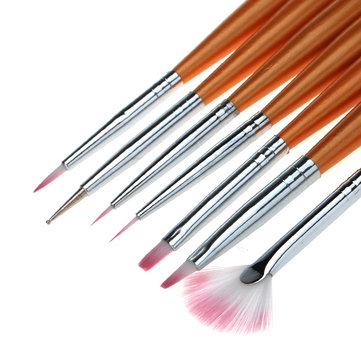 7 Nail Art Design Drawing Painting Pen Polish Brush Set