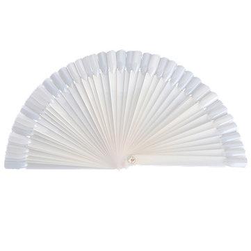 50pcs false nail art tips stick display fan board