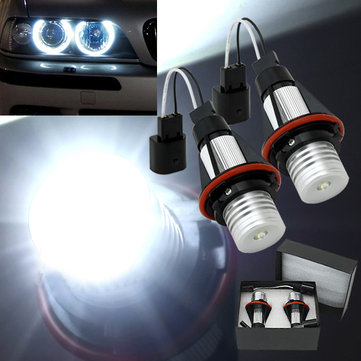 2x BMW E39 E53 Car Angel Eye LED Halo Lights Lamps 5 W