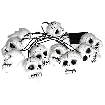 Colorful Bones String Lights Halloween Skull Heads Lamp