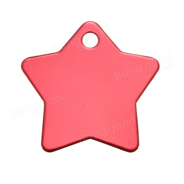 Personalized Customized Star Pet ID Tags Dog Cat Animal Name Tag Metal