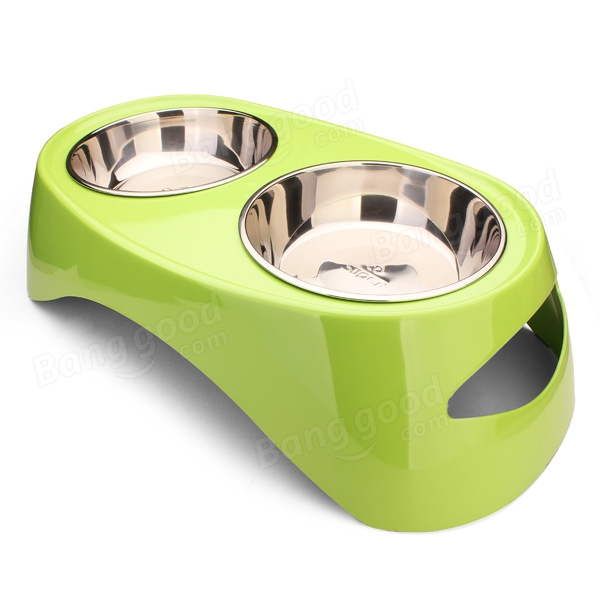 Pet Table Double Bowl