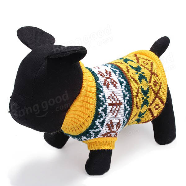 Pet Dog Knitted Breathable Warm Sweater Winter Outwear Coat