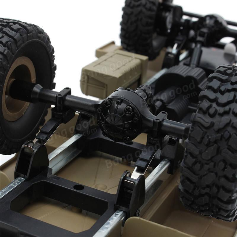 HengLong 1/16 4 * 4 de Alta-imitação RC EUA Caminhão Militar RTR Off-road Crawler Toy Cars