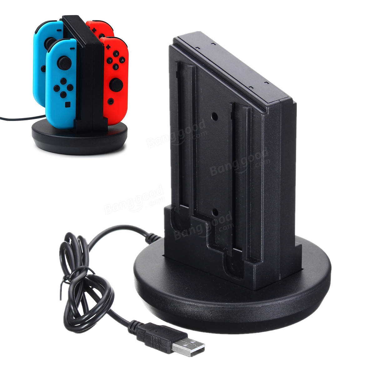 Charging Dock Cradle Station Charger For Nintendo Switch 4 Joy-Con Controller