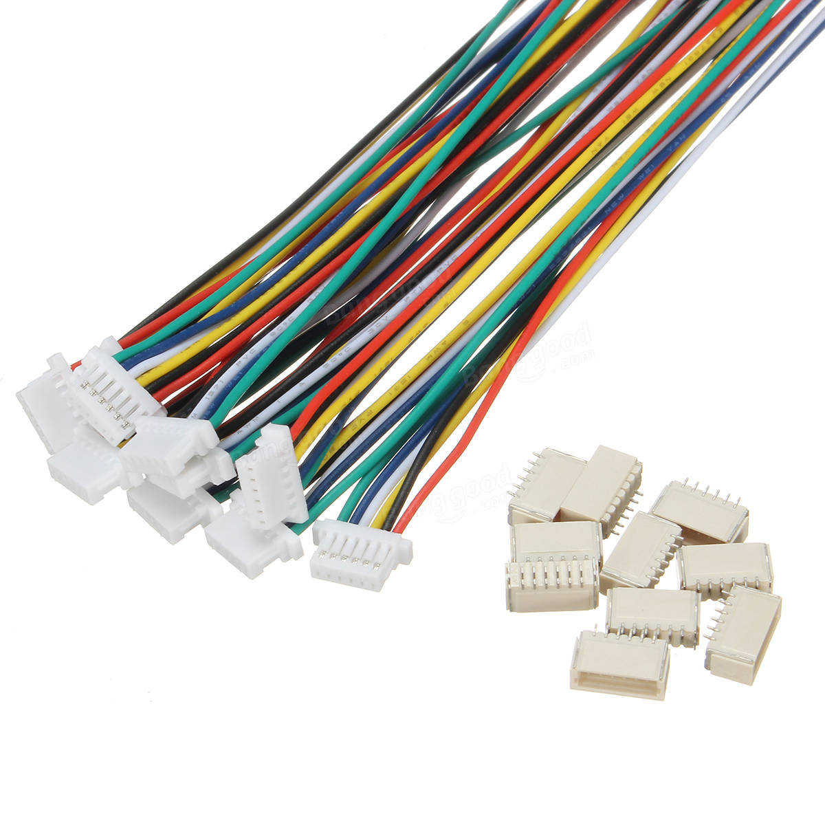 Excellway® 20Pcs Mini Micro JST 1.0mm SH 6-Pin Connector Plug With ...