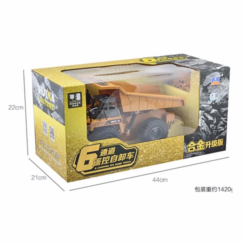 HuiNa Toys1540 Six Channel 1/18 RC Caminhão De Metal RC Carro De Carregamento RC