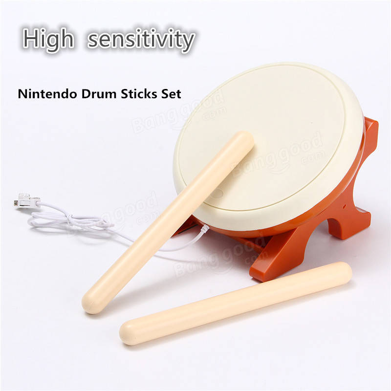 Taiko no Tatsujin Drum Sticks For Nintendo Wii Console Remote Controller Game