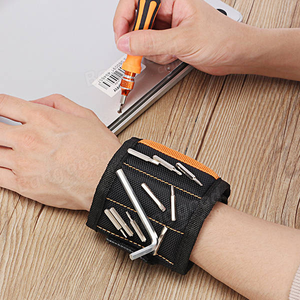 Hilda Magnetic Wristband with 15pcs Magnets Wrist Band for Holding Tools Wrist Bands Tool Holder