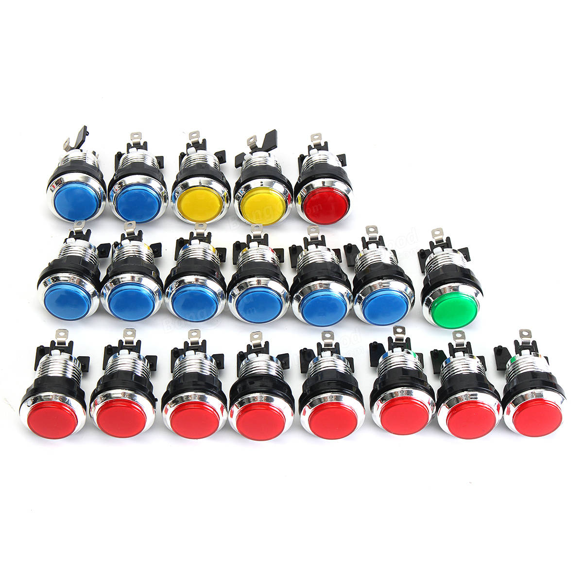 Arcade Game Control Panel LED Illuminated DIY Kit 2 Joysticks 20 Buttons USB MAME