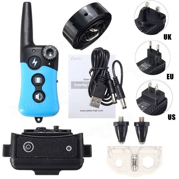 E-Collar Rechargeable Remote Shock Collar Waterproof Dog Training Collar Electric Pet Collar